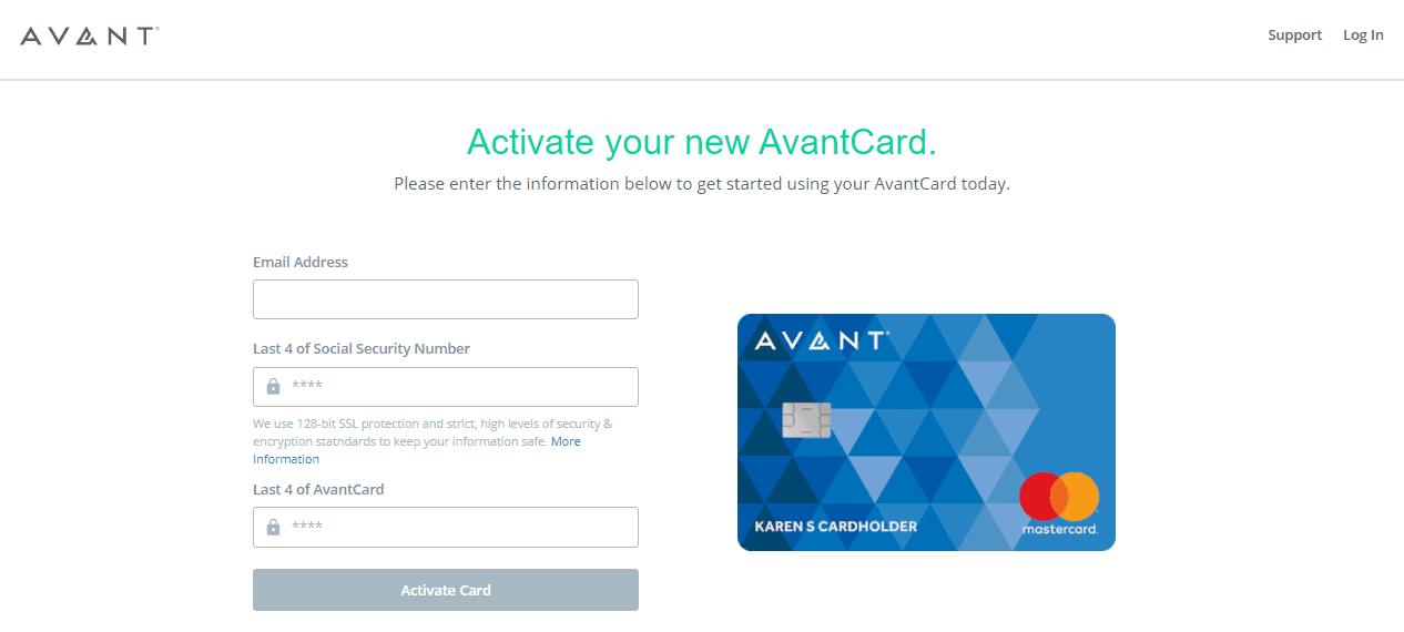 Avant Card Activate