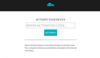 HGTV GO Activate