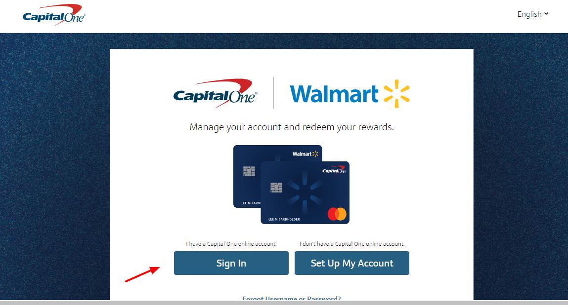 walmart rewards card login