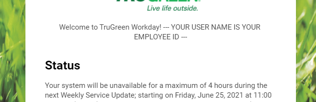 workday trugreen