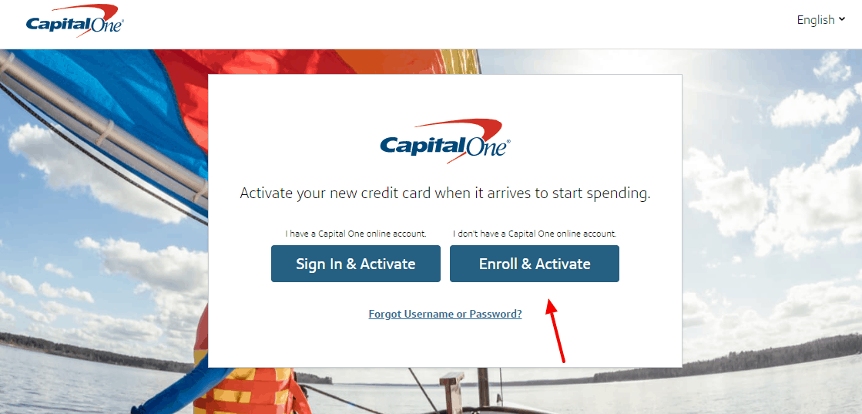 capitalone card activation