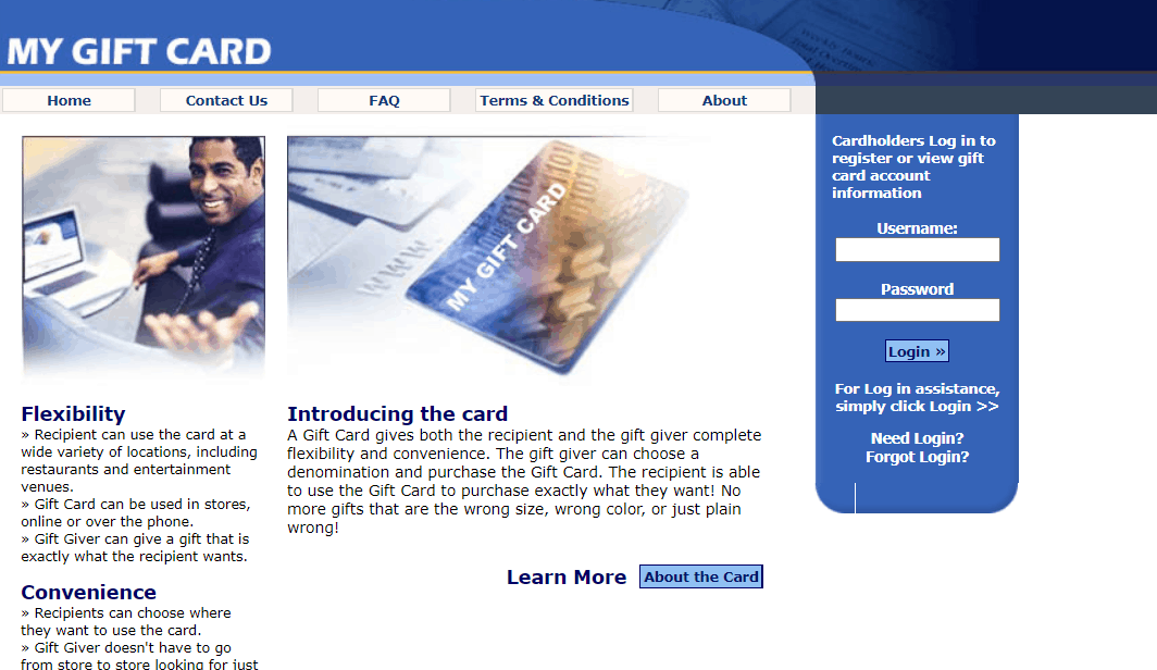 my gift card manager login